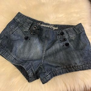 [American Eagle] Button Front Denim Shorts